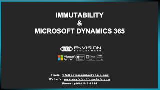 Immutability and Microsoft Dynamics 365